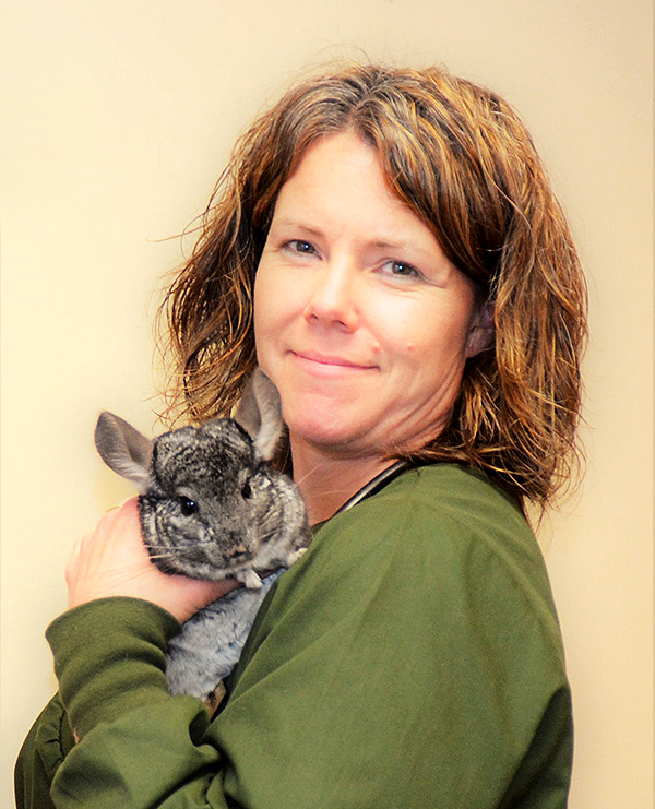 Exotic Animals - Dr. Julie Keen with chinchilla.