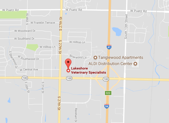 Lakeshore Veterinary Specialists Map